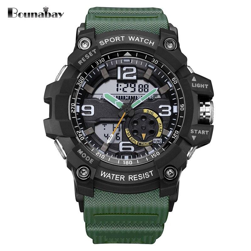 BOUNABAY Hombre reloj de pulsera automático impermeable Hombres - Relojes para hombres