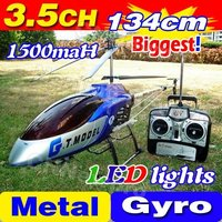Free Shipping 3.5CH Biggest 53' 134CM Large Big Radio Remote Control Electric Gyro Metal RTF RC Helicopter LED G.T. QS8006 8006