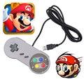 AC Retro USB Controller Retro Super for Nintendo SNES USB Controller for PC games for MAC Controllers SEALED