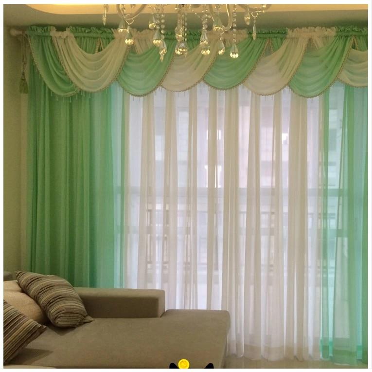 tende per soggiorno tenda pura cucina moderna pannelli e cascata valance cortinas lusso tulle tende trattamento
