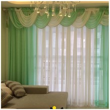 Curtains For Living Room Modern Sheer Kitchen Cortinas Luxury Tulle Drape  Panel And Waterfall Valance Hilton