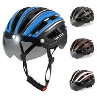 백 라이트와 남자에 대 한 Lixada 사이클링 헬멧 분리형 마그네틱 바이저 남자에 대 한 UV 보호 자전거 헬멧 자전거에 대 한 MTB 헬멧