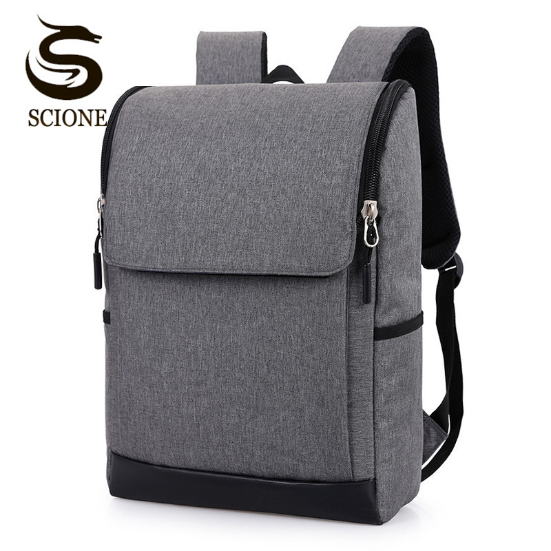 Scione 15.6 Inch Laptop Backpack Casual Mens Business Backpack Male/female Travel Bag Pack Waterproof Rucksack Mochila Women Bag
