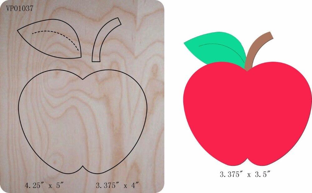 Apple DIY Die Cut Accessories Wooden Die Regola Acciaio Die Misura ,muyu