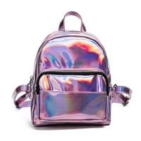 Mini Backpacks For Teenage Girls Bolsa Feminina Mochila Mochilas Women S Backpack Laser Transparent Backpack Female