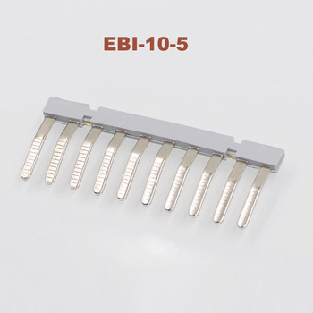 10/30/50pcs Side Plug-in Connector center short circuit connection strip EBI-10-5 Din Rail Terminal block bornier UK3N fittings image