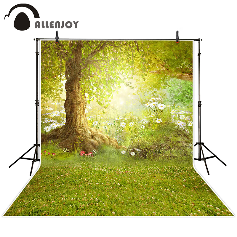 Allenjoy photographic background forest backdrop Meadow flower free nature background children boy studio scenic 10x10ft массажер gezatone amg197 щеточка массажер для лица насадка щетка с мягкой щетиной