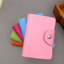 Fashion Purse PU Leather 24 Bits Card Case Women Business Bank Card Holder Men Credit Passport Card Bag ID Passport Card Wallet(China)