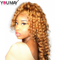 Blonde Wig Colorful 250% Density Loose Wave Lace Front Wigs With Baby Hair #27 Brazilian Virgin Human Hair Wigs You May