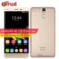 K6000 Oukitel Pro Telefone Móvel 5.5 Polegada FHD 1920x1080 MTK6753 Octa núcleo Android 6.0 3 GB RAM 32 GB ROM 13MP 6000 mAh 4G Smartphone