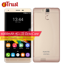 Oukitel K6000 Pro Mobile Phone 5.5 Inch FHD 1920×1080 MTK6753 Octa core Android 6.0 3GB RAM 32GB ROM 13MP 6000mAh 4G Smartphone