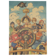 Home Decor Wall Sticker Retro Anime Poster One Piece Poster Q Style Kids Poster 51.5x36cm