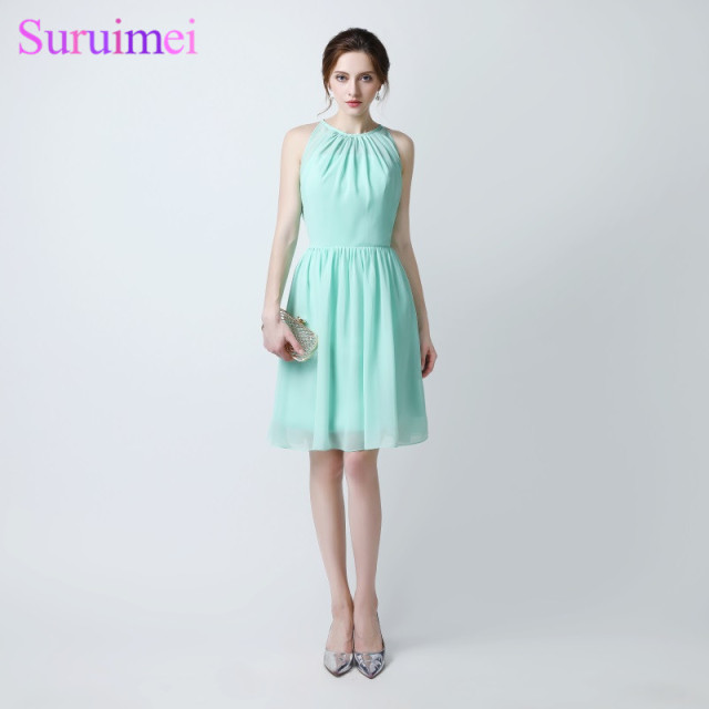 2017 New Arrival Mint Green Short Prom Dresses Knee Length Off The ...