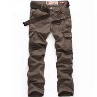 Men Cargo Pants Trousers Top Fashion Multi Pocket Solid Mens Outdoor Hunting Sports Pant Plus Size