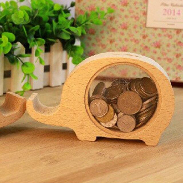 Elephant Pig Dolphin Hippo Original Wooden Money Box Piggy