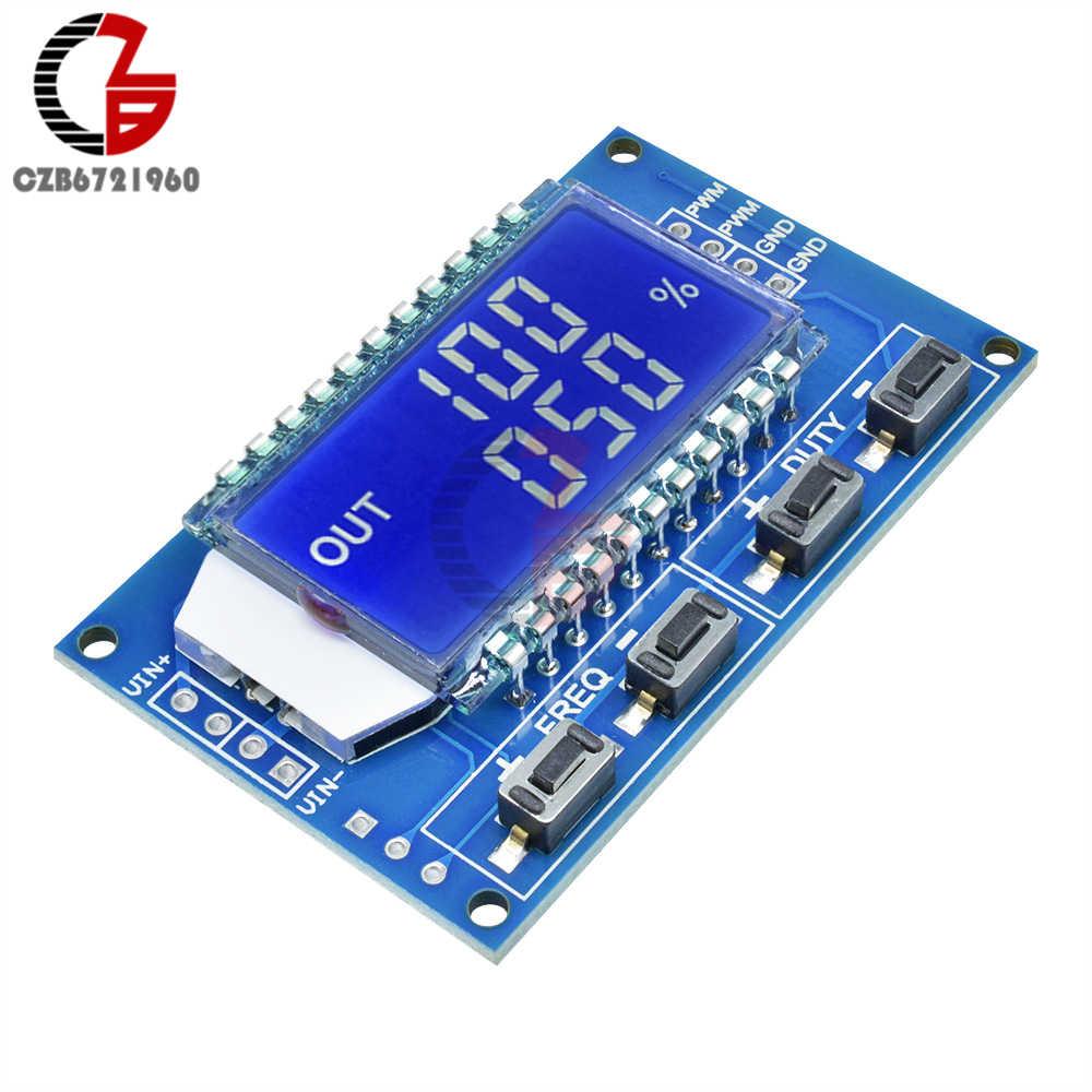 1Hz-150Khz إشارة مولد وحدة قابل للتعديل PWM نبض تردد وظيفة مولد دورة العمل TTL شاشة الكريستال السائل 5 فولت تيار مستمر 12 فولت 24 فولت