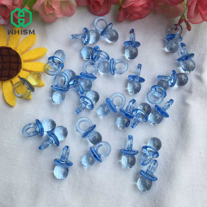 Baby Shower Boy Decoracion.Whism 50pcs Clear Acrylic Mini Pacifiers Baby Shower Favors