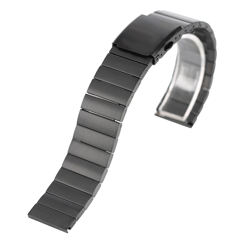 18/20/22/24mm Cool Men Bracelet Clasp Women <font><b>HQ</b></font> <font><b>Watch</b></font> Band Strap Stainless Steel + 2 Spring Bars image