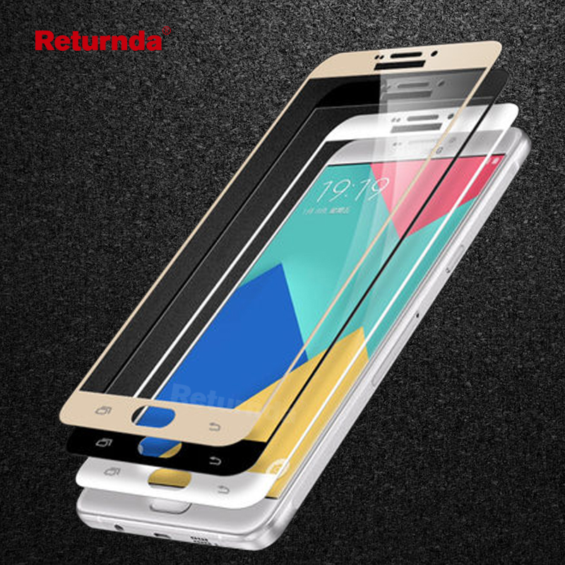 Galleria fotografica Full cover Tempered Glass For Samsung Galaxy A5 2017 A5 2016 A3 2017 C5 pro A7 2016 C7 C9 A7 2017 for samsung galaxy a3 2016