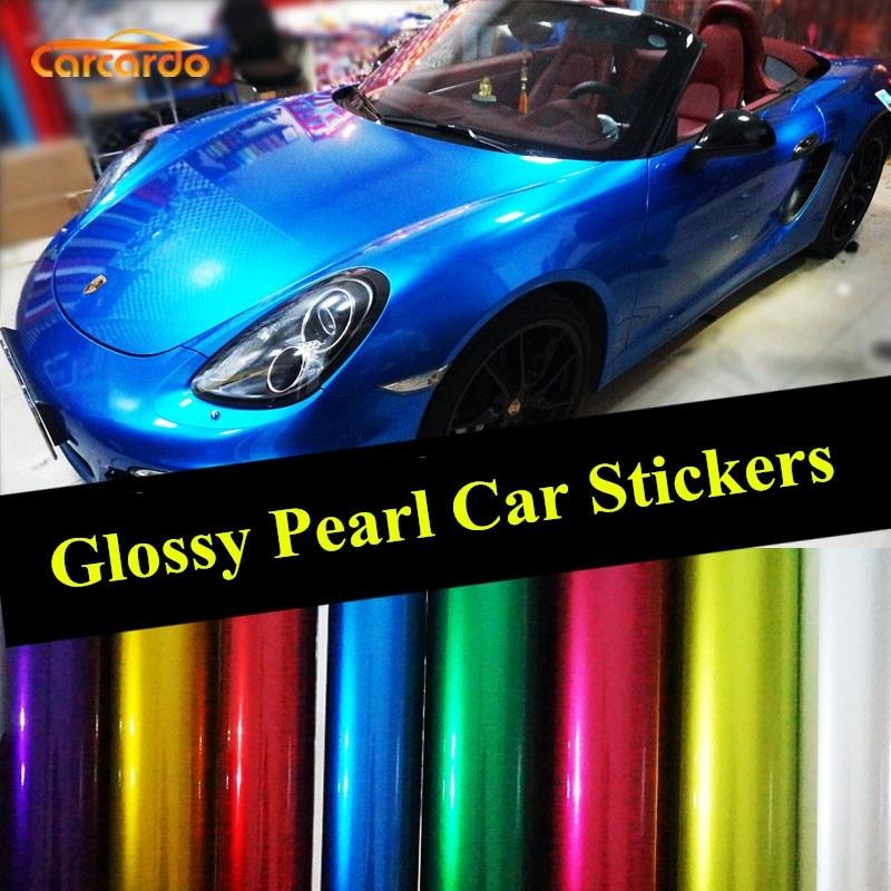 Carcardo Metallic Brillant Perle Vinyle Film Metallic Glitter Autocollant De Voiture Avec Bulle D'air Aurora Car Wrap