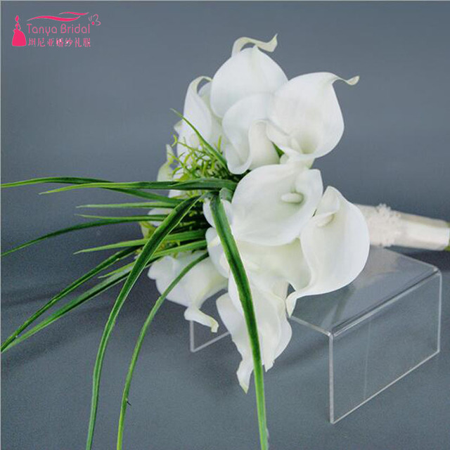 Simple Flower Bouquets For Weddings: Aliexpress.com : Buy White Madilian Bridal Flower Bouquets