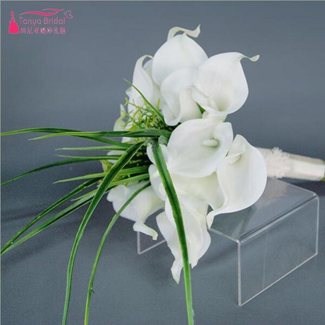 White Madilian Bridal Flower Bouquets Simple elegant Beach Wedding ...