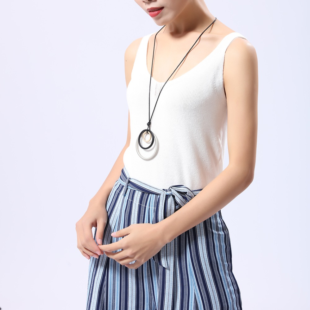 2018 New Chokers Woman statement necklaces pendants vintage Long necklace women christmas gift collares mujer colar choker in Pendant Necklaces from Jewelry Accessories