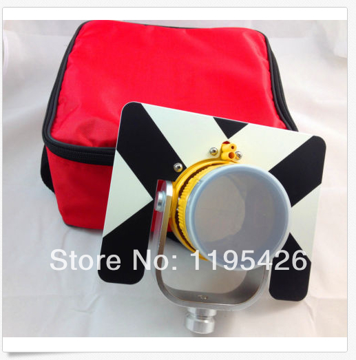 (NEW) SINGLE PRISM FOR NIKON/TOPCON/SOKKIA/ total station constant -30/0 mm sokkia red prism and target single tilt prism