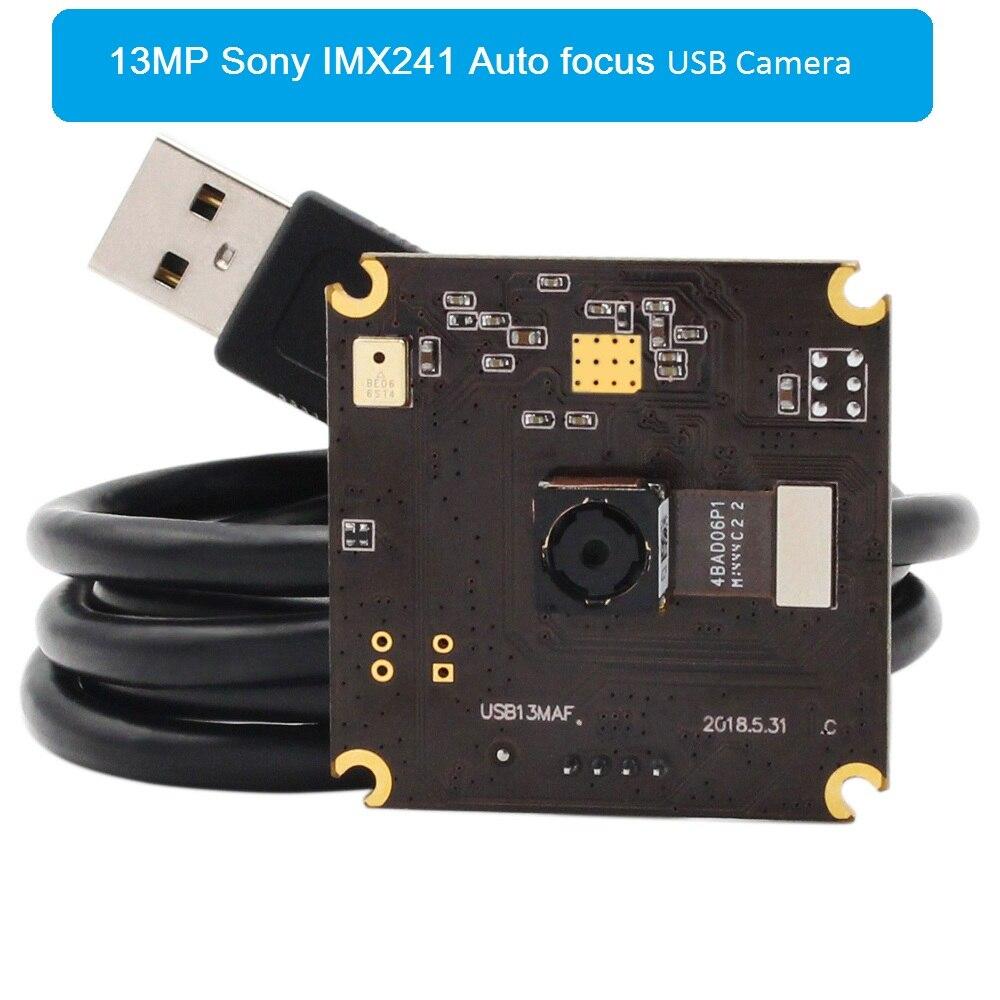 13MP 3840 (H) * 2880 (V) SONY IMX214 Couleur CMOS MJPEG YUYV Autofocus UVC Caméra USB Carte de Module pour Android Linux Fenêtre MAC OS