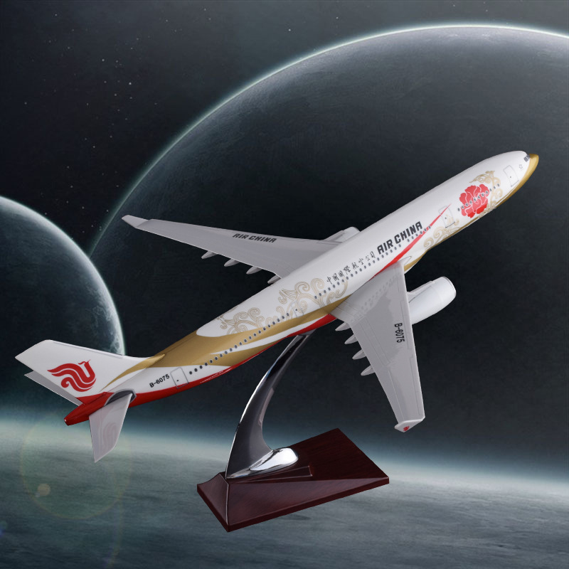 40cm resin A330 Air China airplane model national air purple gold airbus airways model aviation creative gift China Zijin model new phoenix 11207 b777 300er pk gii 1 400 skyteam aviation indonesia commercial jetliners plane model hobby