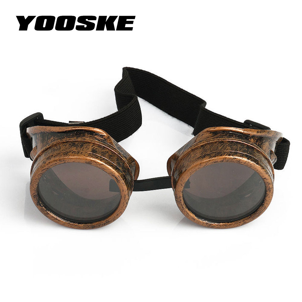 b03fc17f1c9 YOOSK Welding Punk Vintage Sunglasses Retro Gothic Steampunk Goggles Glasses  Men Sun Glasses Cosplay Eyewear-in Sunglasses from Men s Clothing    Accessories ...