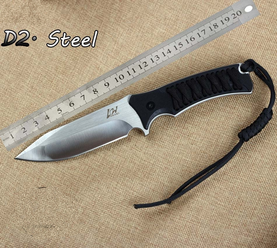 2016 very sharp Outdoor font b Knife b font D2 Steel G10 Survival font b Hunting