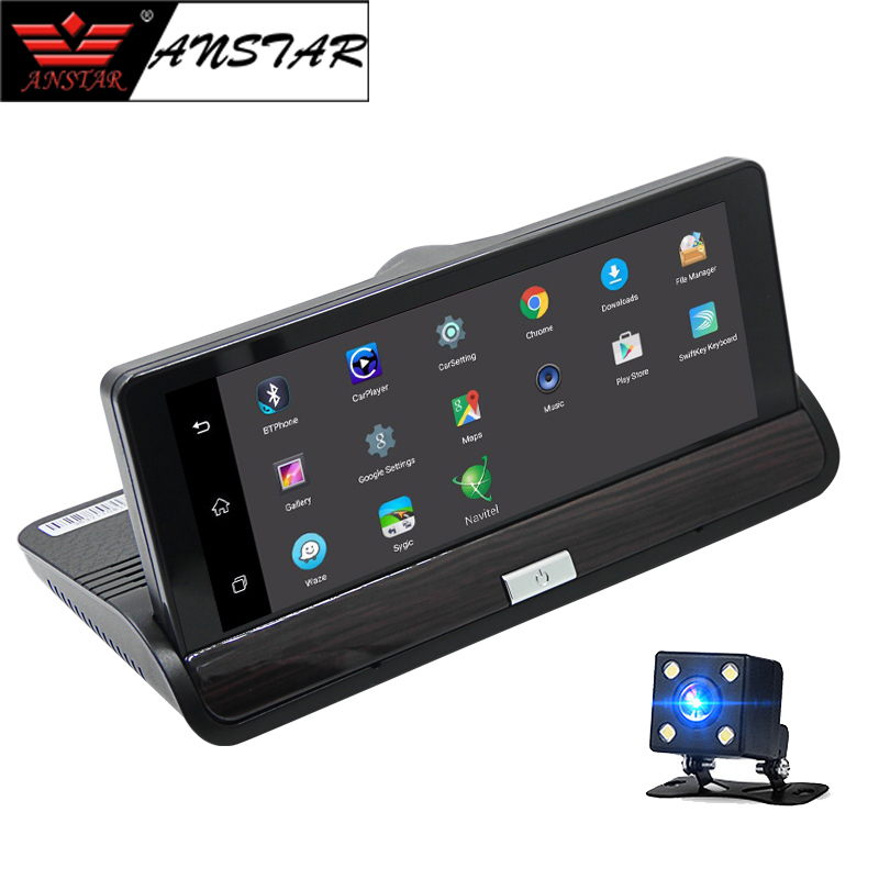 Anstar 7 Android WI FI 3g Зеркало заднего вида Smart Видеорегистраторы для автомобилей Камера gps автомобиля видео Регистраторы Авто Dashcam Двойной объекти