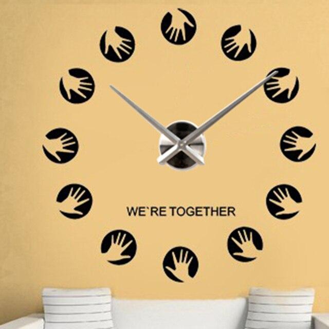 Modern Design Large Wall Clock Home Decoration DIY 3d Clocks Hand ...