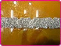 משלוח חינם באיכות גבוהה אופנה נקה ריינסטון תחרת חתונת זמירה אפליקצית מוטיב לקצץ כלה יהלומי גביש זכוכית
