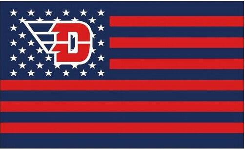 90x150cm dayton flyers flag us stripes banner 100d polyester