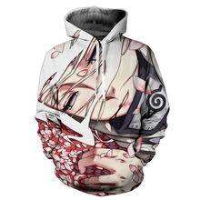 2017 New Hooded Sweatshirts Men Hipster 3d Hoodies Anime Naruto Sasuke Cool Hoodie Male female casual Long Sleeve Outerwear