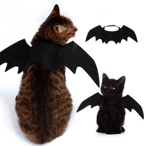 New Halloween Pet Dog Costumes Bat Wings Vampire Black Cute Fancy Dress Up Halloween Pet Dog Cat Costume