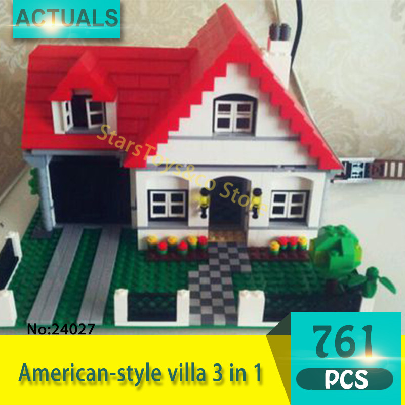 Lepin 24027 761Pcs Street View series American-style villa 3 in 1 Model Building Blocks Set  Bricks Toys For Children Gift 4956 8 in 1 military ship building blocks toys for boys