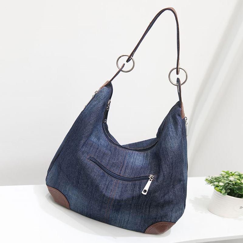 9fbfe8b9bfeb OLGITUM 2018 New Large Luxury Handbags Women Bag Designer Ladies Hand bags  Big Purses Jean Tote Denim Shoulder Crossbody HB016-in Top-Handle Bags from  ...