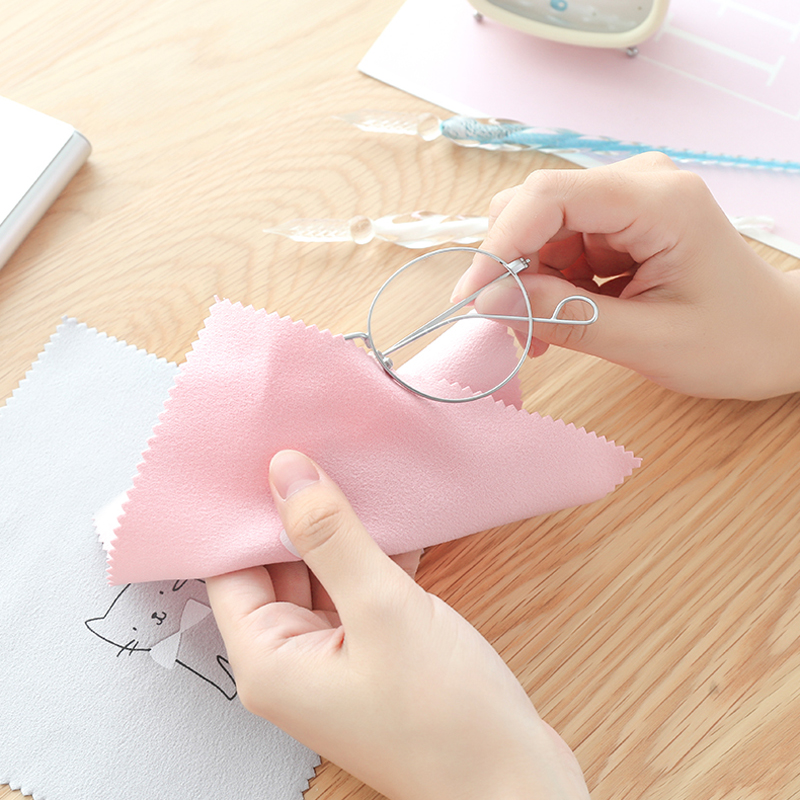 5 pieces of glasses cleaning cloth SLR camera lens cleaning kit tablet PC screen glasses sunglasses cloth random colors