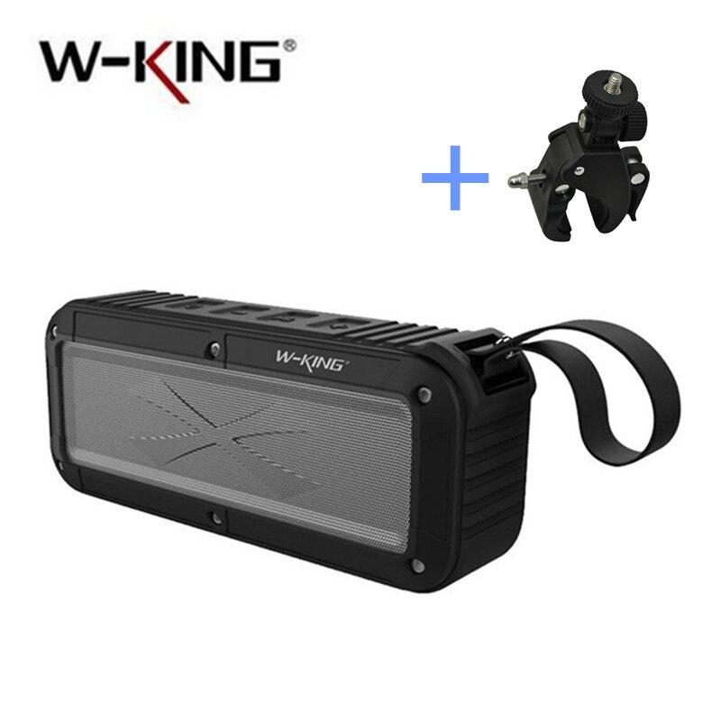 IPX6 Waterproof Bluetooth Speaker Portable Wireless Speaker for Shower Bathroom / Outdoor Activities / Bicycle W-king S20 waterproof bluetooth v3 0 bathroom speaker w microphone suction cup camouflage green