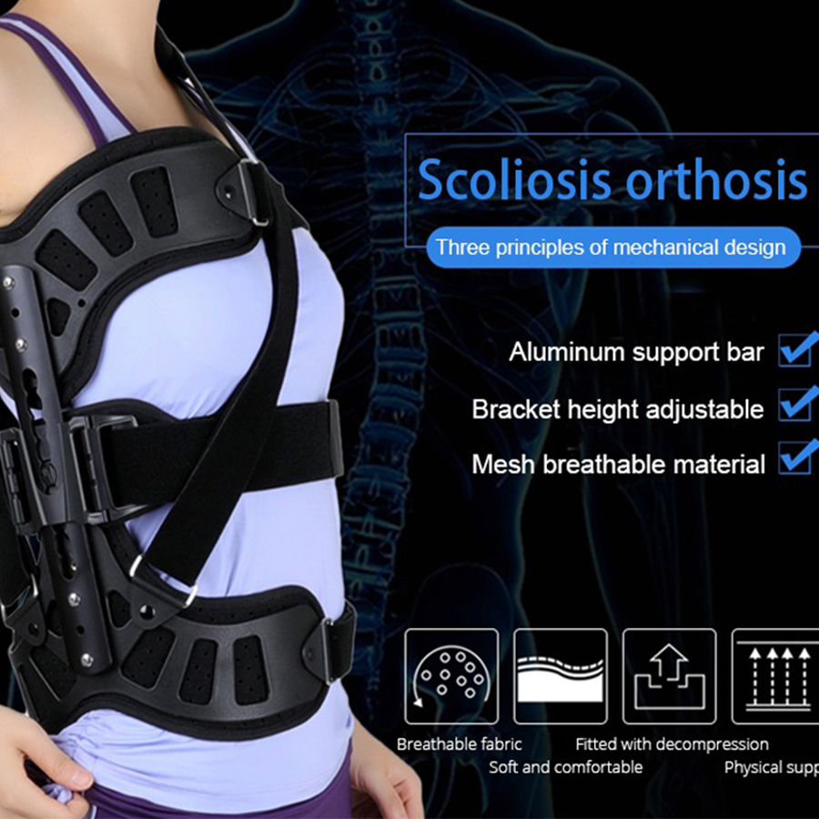 New Scoliosis Posture Corrector Adjustable Spinal Auxiliary Orthosis For Back Postoperative Recovery Men And Women