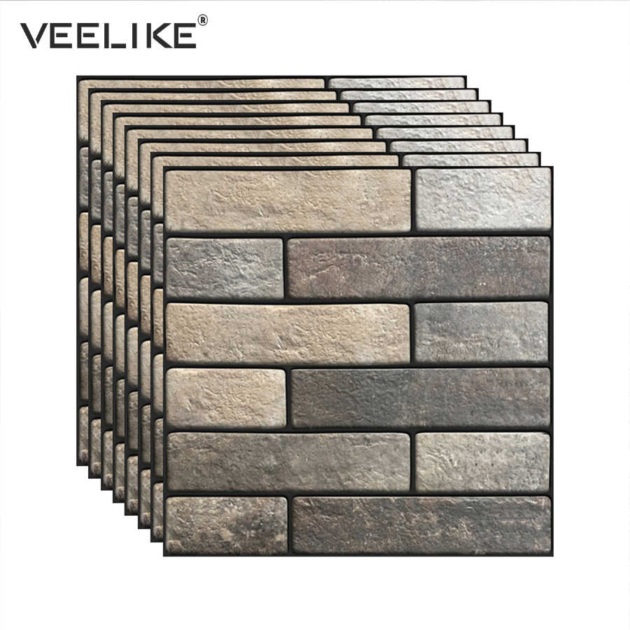 - 3D Brick Self Adhesive Wallpaper For Kitchen Backsplash Tiles Peel