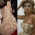 Оскар красной ковровой дорожке без бретелек 3D цветы / спинки красивая Myriam тарифы платье