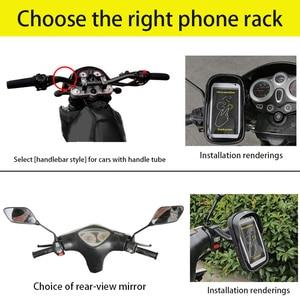 Image 3 - 6 cal uchwyt na telefon komórkowy wodoodporna rower stojak kierownica motocykla do montażu na torba dla iphone Samsung HUAWEI xiaomi