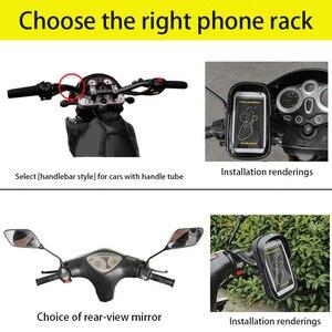Image 3 - 6 inch Fiets Mobiele Telefoon Houder Waterdicht Bike Case Stand Motorfiets Stuur Mount Tas voor iphone Samsung HUAWEI xiaomi