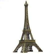 Creative Europe Bronze Paris Tower Model Metal Home Decoration Accessories Figurines Miniatures Furnishing Craft Birthday Gift