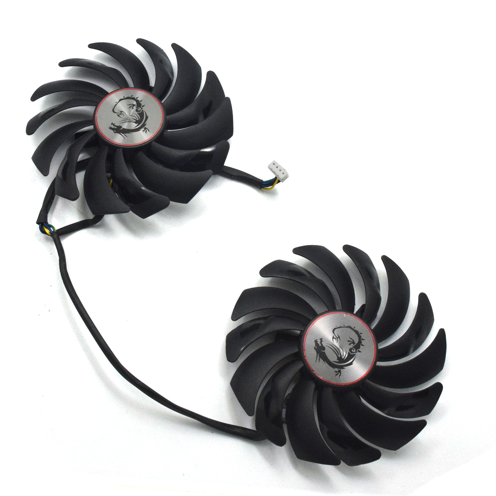 2pcs/lot GTX1080 GTX1070 GTX1060 GPU Cooler Fans 95mm For MSI GTX 1080/1070/1060 GAMING GPU Graphics Card Cooling 2pcs lot computer radiator cooler fans rx470 video card cooling fan for msi rx570 rx 470 gaming 8g gpu graphics card cooling