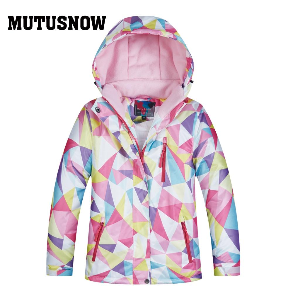 Newest Kids Ski Jacket Winter Children Windproof Waterproof Super Warm Ski Clothes Girls Snow Coat -30 Winter Snowboard Jacket